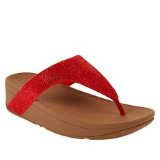 FitFlop Lottie Shimmer Crystal Toe Post Sandal