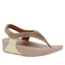 FitFlop Skylar Crystal Toe-Post Backstrap Sandal