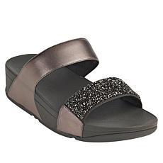 FitFlop Sparkle Crystal Leather Slide Sandal