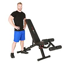 Fitness Reality 2000 Super Max XL Weight Bench with Workout Exercises