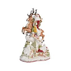 Fitz and Floyd Damask Holiday Santa Figurine