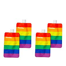 Flask2Go 4-pack Foldable and Reusable Flasks