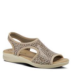 Flexus by Spring Step Nyaman-Leo Leopard Print Slingback Sandal