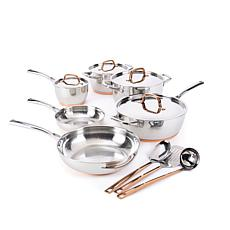 Food & Wine 13-piece Stainless Steel Cookware Set