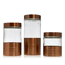 FOOD & WINE™ 3-piece Glass Canister Set