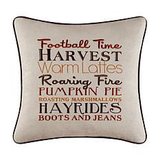 Football Time Harvest Pillow