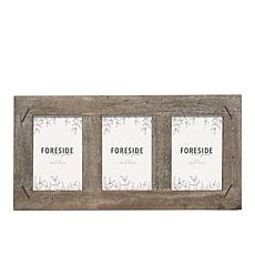 """Foreside Home & Garden Triple 4x6"""" Wood Picture Frame w/ Nail Accents"""