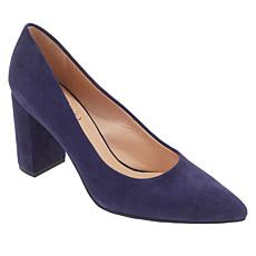 Franco Sarto Palma Leather or Suede Chunky-Heel Pump