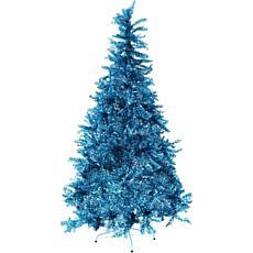 Fraser Hill Farm 5' Festive Tinsel Christmas Tree - Turquoise