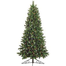 Fraser Hill Farm 6.5' Canyon Pine Half-Wall/Corner Tree w/Clear Lights
