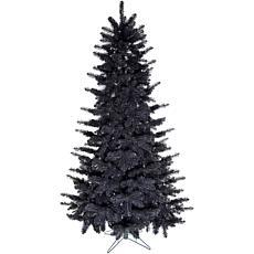 Fraser Hill Farm 7' Festive Tinsel Christmas Tree - Black