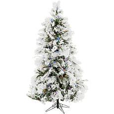 Fraser Hill Farms 10' Flocked Snowy Pine Tree - Multicolor
