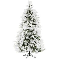 Fraser Hill Farms 12' Flocked Snowy Pine Tree