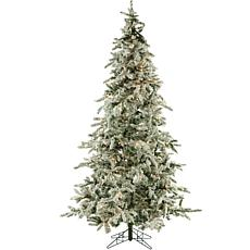 Fraser Hill Farms 9' Flocked Mountain Pine Tree - Smart Lights