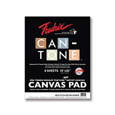"FREDRIX Can-Tone Multi-Color Canvas 8-Sheet Pad 16"" x 20"""