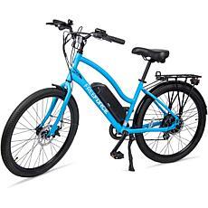 "Free Force Avalon 16"" E-Beach Bike w ThumbThrottle, Pedal Assist, Blue"