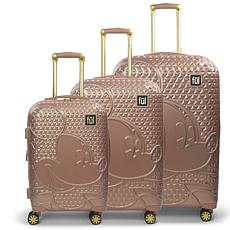 FUL Disney Textured Mickey Mouse Hard-Sided 3-piece Luggage Set