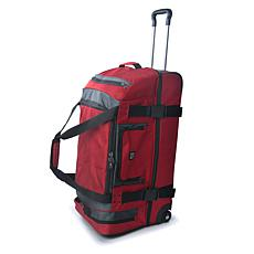 "FUL Rig 30"" Rolling Duffel Bag - Red/Grey"