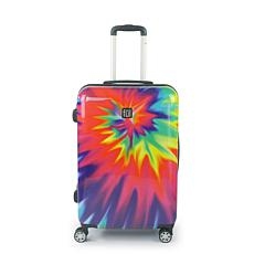 "FUL Tie Dye 24"" Spinner Rolling ABS Hard-case Suitcase"