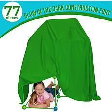 Funphix 77-Pc Fort Kit with Glow in the Dark Sticks & Green Sheet
