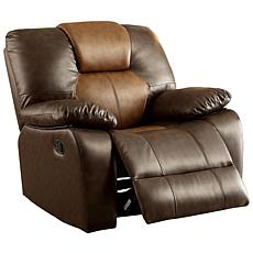 Furniture of America Colton Leatherette Swivel Glider Recliner