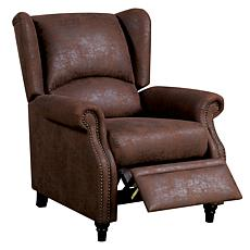 Furniture of America Fiona Push-Back Recliner - Brown