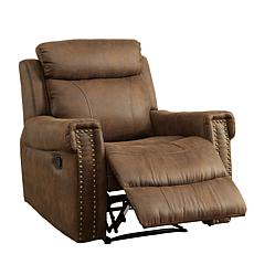Furniture of America Noel Fabric Recliner - Brown