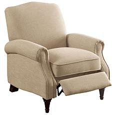 Furniture of America Paulina Linen-Like Fabric Recliner - Beige