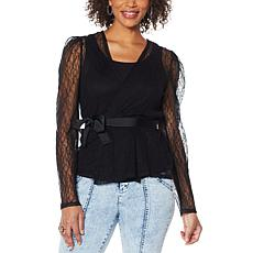 G by Giuliana Black Label Blouse with Tank Top