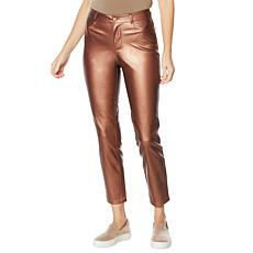 G by Giuliana Black Label Faux Leather Metallic Pant