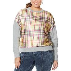 G by Giuliana Black Label Plaid Sweatshirt