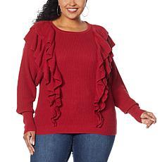 G by Giuliana Black Label Ruffle Sweater