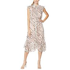 G by Giuliana Button-Front Chiffon Duster with Tank Dress