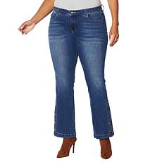 G by Giuliana Buttoned-Leg Flare Jean