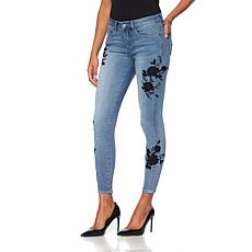 G by Giuliana Embroidered Detail Skinny Jean