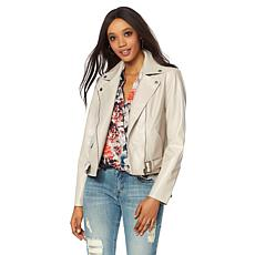 G by Giuliana Ultra Luxe Reptile Embossed Moto Jacket