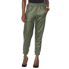 G by Giuliana Ultrasuede Pull-On Jogger Pant