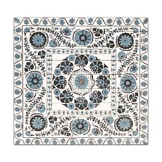 "Gallery 57 Blue Suzani 29"" x 29"" Print on Wood"