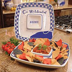 Gameday Chip n Dip Tray - Kansas Wildcats
