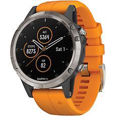 Garmin Fenix® 5 Plus  Sapphire Edition Titanium Multisport GPS Watch
