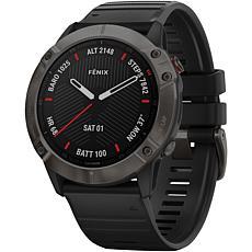 Garmin Fenix 6X Sapphire GPS Watch in Carbon Gray