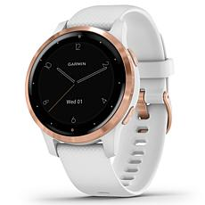 Garmin Vivoactive 4S GPS Smartwatch in Rose Gold Steel and White
