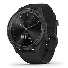 Garmin Vivomove 3 Hybrid Smartwatch in Slate and Black