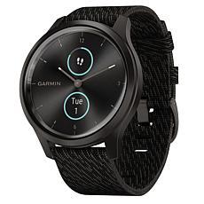 Garmin Vivomove Style Hybrid Smartwatch in Graphite and Black Pepper