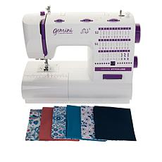 Gemini™ Stitch Sewing Machine and 6-piece Fat Quarters Set