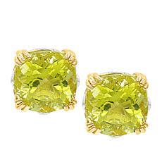 Gems by Michael 18K Goldtone Ouro Verde Quartz Stud Earrings