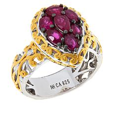 Gems by Michael Burmese Ruby Cluster Ring
