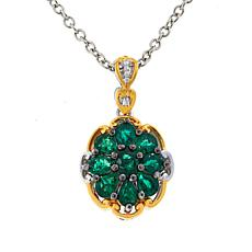 Gems by Michael Grizzly Emerald Cluster Pendant with Chain