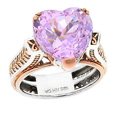 Gems by Michael Pink Kunzite Heart-Cut Ring