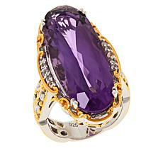 Gems by Michael Sterling Silver Ametista Amethyst and Zircon Ring